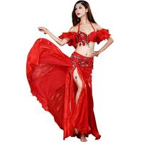 Belly Dance Costumes Women Bellydance Costume Bra Belt Long Skirt Indian Clothing Exotic Dancewear