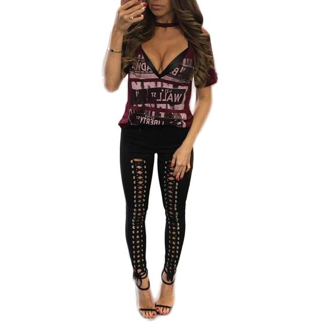 2017 ventas calientes del invierno del otoño de moda práctica novela designned pantalones Sexy de color sólido de doble hilera de perforación Delgado Leggings CM9687