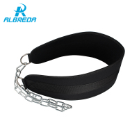 ALBREDA New Fitness Equipments Drop Shipping Dip Belt Weight Lifting Body Waist Strength Training Power Building Chains Pull Up