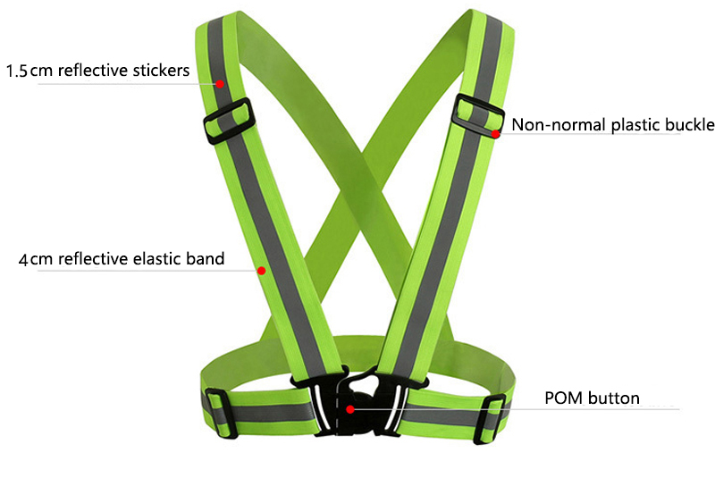Sporting Zk20 Dropshipping Unisex Outdoor Cycling Safety Vest Bike Ribbon Bicycle Light Reflecting Elastic Harness For Night Activities Bicycle Accessories Back To Search Resultssports & Entertainment