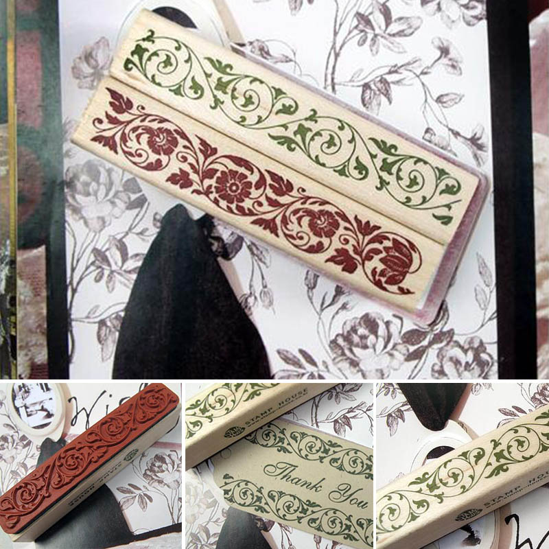 DIY Wooden Vintage Classic Retro Lace Flower Decoration Stamp for Diary Scrapbooking Creative Gift Free shipping 664 diy wooden vintage classic retro lace flower decoration stamp for diary scrapbooking creative gift free shipping 664