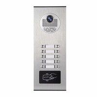 YobangSecurity Metal Aluminum Outdoor RFID Access Control Doorbell Camera For 10 Unit Apartment Video Intercom Door