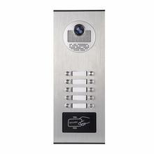 YobangSecurity Metal Aluminum Outdoor RFID Access Control Doorbell Camera For 10 Unit Apartment Video Intercom Door Phone System