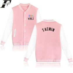 c0de16065b6ff LUCKYFRIDAYF Shinee Kpop Hot Jacket casaco feminino Baseball Jacket  men women jaqueta TAEMIN Coat Plus size Sweatshirt