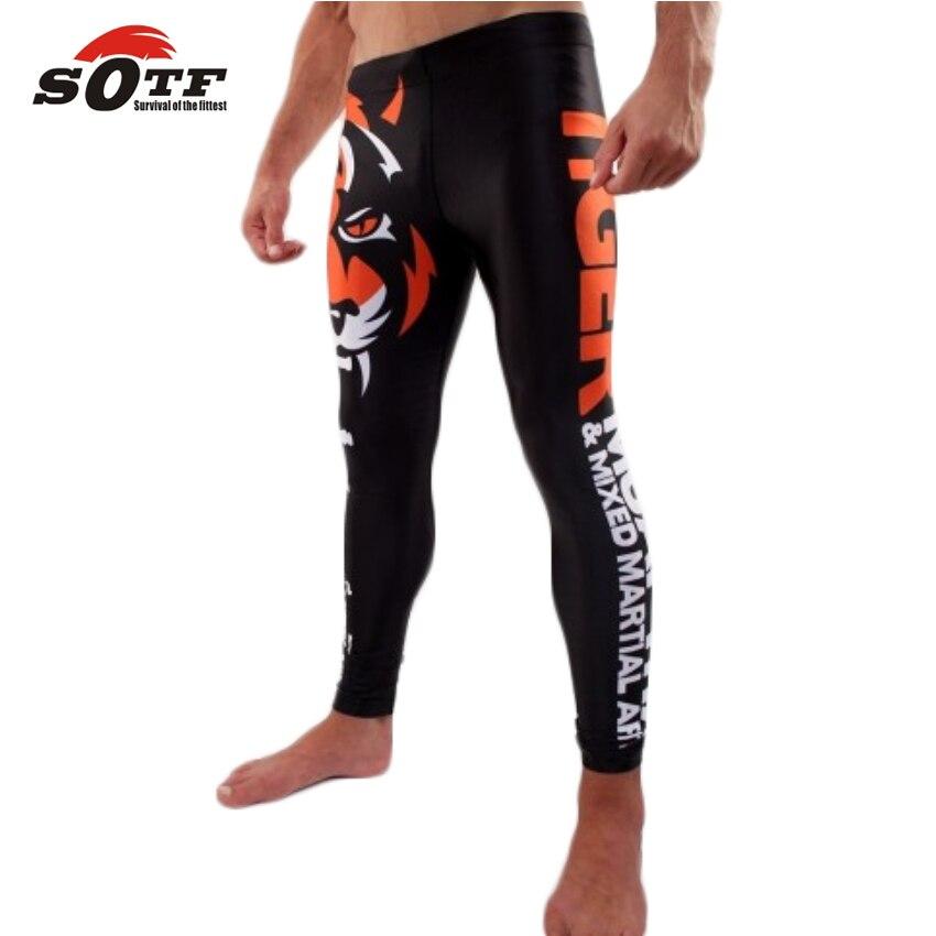 SOTF MMA Combats Tigres Serré Champion Pantalon Confortable Et Respirant Sport Formation Anneau Lisse Souple Flexible Absorbant
