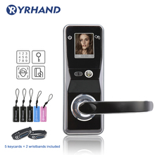Elektroniczny zamek do drzwi rozpoznawanie twarzy blokada bezpieczeństwo cyfrowe ekran dotykowy bezkluczykowy inteligentny zamek do drzwi
