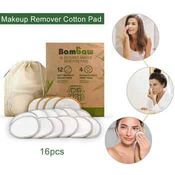 16pcs Reusable Makeup Remover Pads Makeup Remover Discs Washable Cosmetic Makeup Pads for All Skin Types