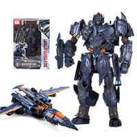 Hasbro Transformers Action Figures Toy King Kong 5 Black Mamba Megatron Day Aircraft Movie Level Amplification Robot Model