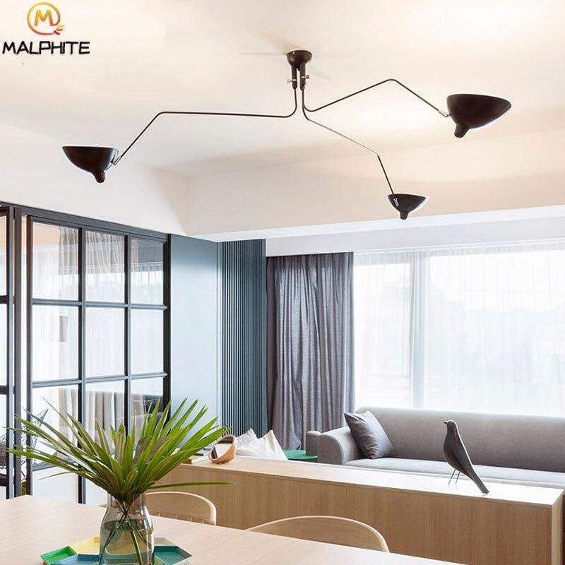 Современная люстра, освещение в скандинавском стиле, несколько головок, ретро лампы для гостиной, люстры, потолочные светильники для ресторанов, декоративные светильники, светильник - 5
