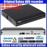 Original Dahua English Firmware 4CH 8ch HDMI FULL HD NVR ONVIF DHI NVR2104HS S2 DHI NVR2108HS