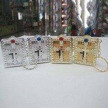 English Version Souvenirs Mini Religious Christian Cross Bible Keychain Key Chain Key Ring Key Holder Women Bag Charm Gift