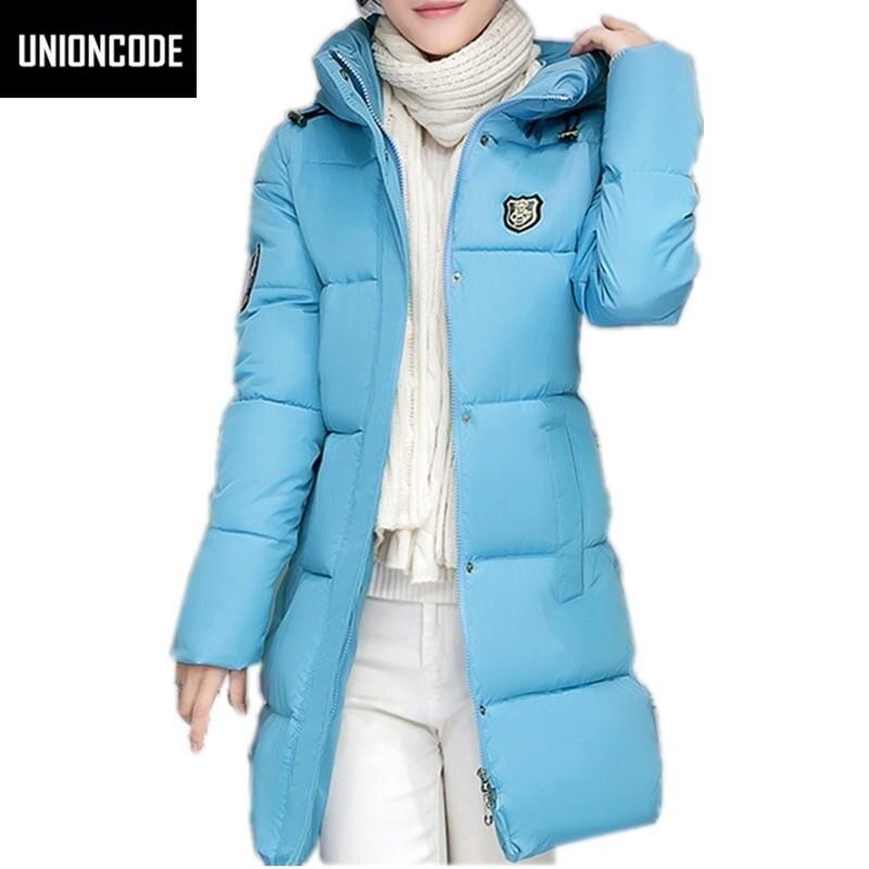 Winter Women's Fashion Down Warm Coats 2017 New Arrival Fashion Long sleeve Hooded Jackets Slim Style Casual Parka Coat