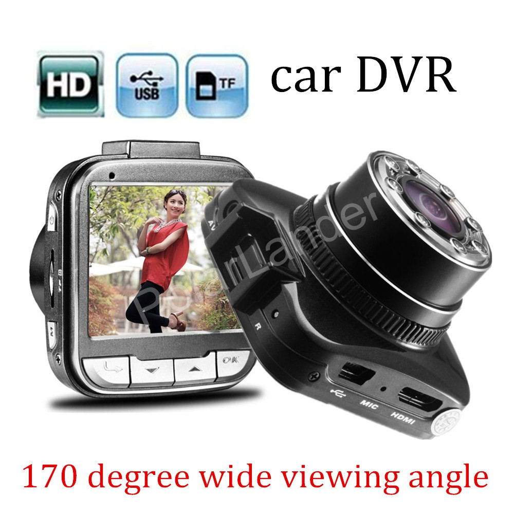 2 inch LCD screen G55 170 degree wide viewing angle Night Vision CAR DVR HD 1080P Mini Car Recorder LED lights