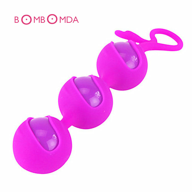 Silicone Kegel Ball 3 Beads Vagina Exercise Vaginal Trainer Love Ben Wa Pussy Muscle Training Adult Toys For Couples Sex Product himabm 1 pcs natural jade egg for kegel exercise pelvic floor muscles vaginal exercise yoni egg ben wa ball