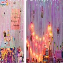 1 м* м 3 1 Упак. Прозрачный Красочный дождь шелковые ткани гирлянда из кисточек баннер воздушные шары ленты вечерние партия Свадебные украшения Поставки 8z