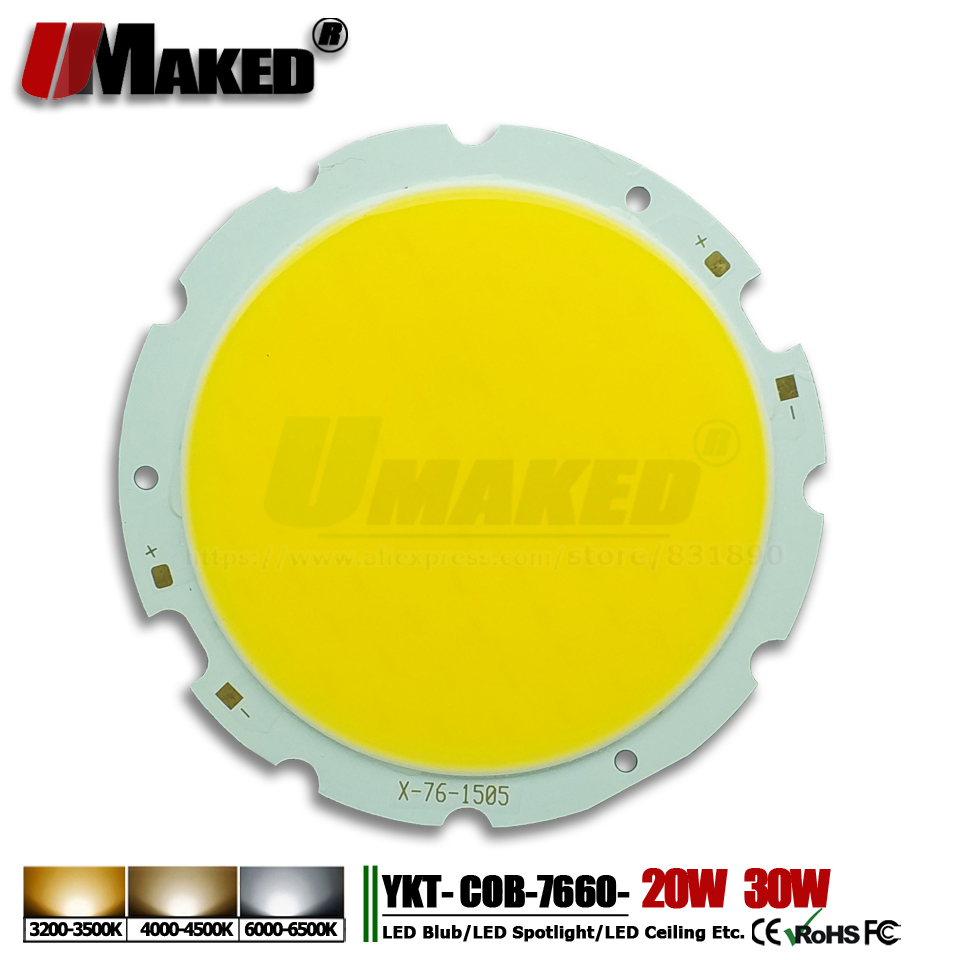 Lights & Lighting Light Beads Umaked High Power Led Chips 20w 30w Cob Chips Smd Diode Light Beads 7660 17x34mil Integrated Lamp For Floodlight Ceiling Lights Structural Disabilities