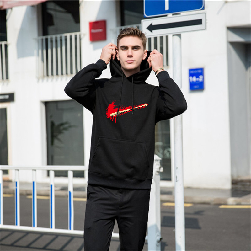 Sizzling Sale New Males Tracksuit Units Winter Fleece Hood Hoodies+Pants Sweatshirts 2 Piece Set Hoodies Sporting Go well with Coat Sportswear