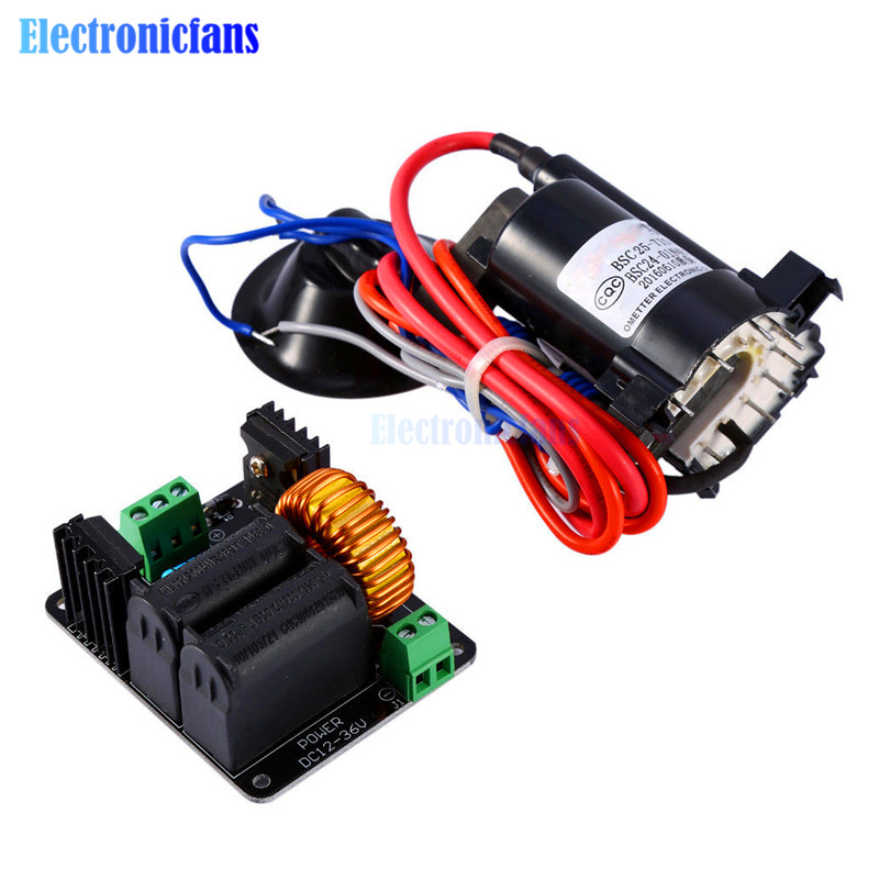 High Voltage ZVS Tesla Coil Driver Board + Ignition Coil Flyback Driver for Sgtc /Marx Generator/jacobs Ladder 12-36VHigh Voltage ZVS Tesla Coil Driver Board + Ignition Coil Flyback Driver for Sgtc /Marx Generator/jacobs Ladder 12-36V