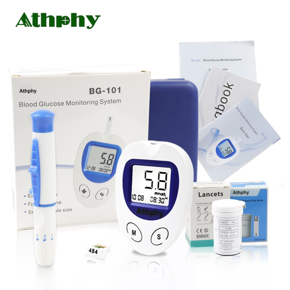 Athphy Blood Glucose Meter Diabetic Test glucometer measuring Medical Blood Sugar Monitor with 50/100pcs Strips Lancets Needle microtech medical diabetic blood sugar detection blood glucose meter glucometer medidor de glicemia 50 strips page 7