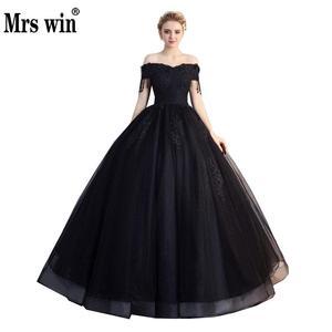Image 1 - Pani Win Quinceanera sukienki Prom z krótkim rękawem klasyczna Off The Shoulder szlachetna suknia balowa z aplikacjami Party wieczorowa suknia na studniówkę