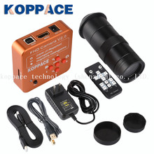 21MP HDMI USB Industrial Video Microscope Camera Digital Zoom Lens HDMI Output + 100X C Interface Lens for Mobile Phone Repair