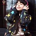 KAMIMI новая осень девушки куртка звезды распечатать детские Пальто Верхняя Одежда мальчиков Ветровка Детские Куртки Детская Одежда Детская Одежда A375