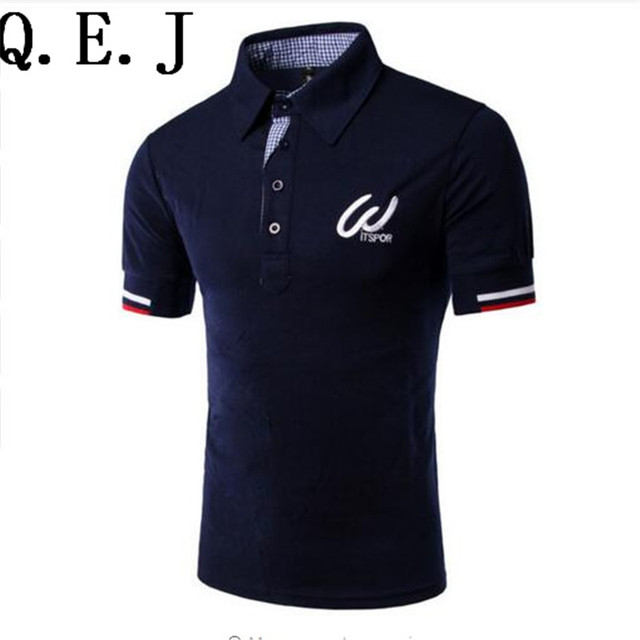 2016 summer new arrival men's polos fashion personality Embroidered logo decoration short-sleeve polo men casual slim mens polo