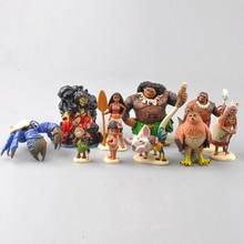 10PCS /set Moana Princess Presale 2016 NEW Moana Maui Waialik Heihei Action Figures Toy Decoration gift Collection