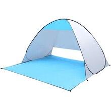 חיצוני קמפינג אוהל אוטומטי מיידי החוף פופ אוהל 2 אנשים אנטי UV שמש מקלט דייג אוהלי טיולי פיקניק סוכך
