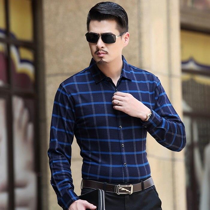 2015 otoño hombres camisas para hombre de manga larga