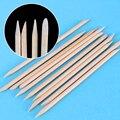10 piezas/packs 11,3 cm naranja madera palo cutícula empujador removedor clavo diseños clavo arte palo de madera manicura herramientas
