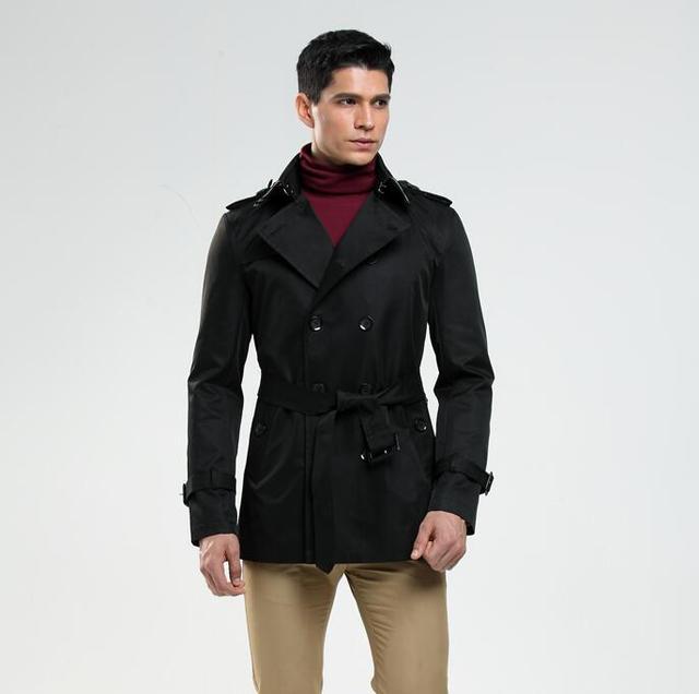 Mens Trench Coats Man Short...
