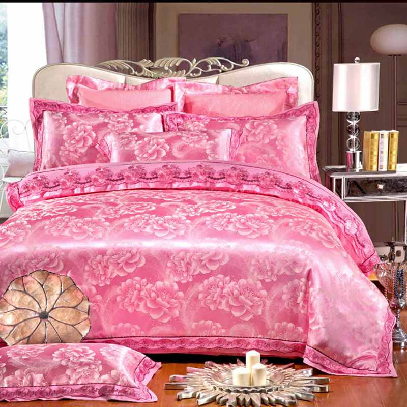 Online Kaufen Großhandel rosa satin bettwäsche aus China rosa ...
