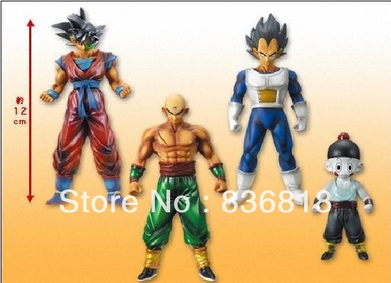 Dragonball Z Dragon Ball Chiaotzu Tien Goku Vegeta 4 Action Figure Manga Toy Set