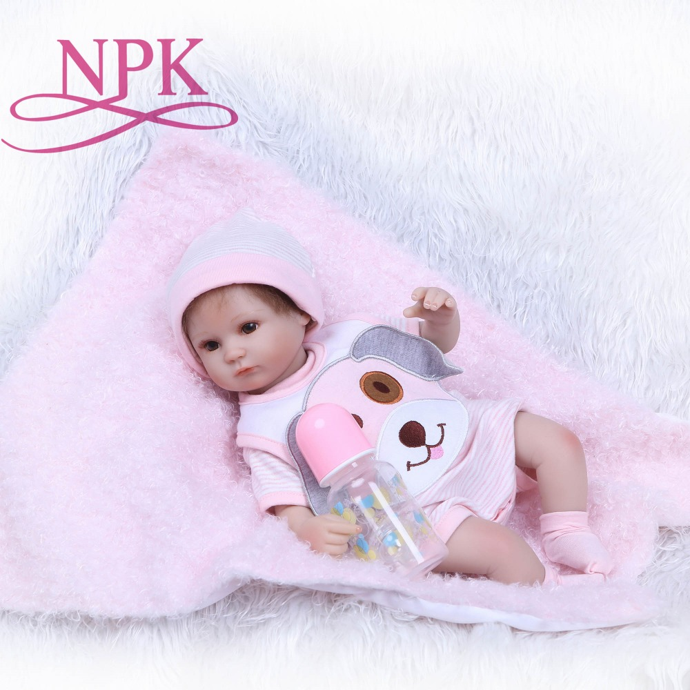 NPK Reborn Baby Doll Realistic Soft silicone Reborn Babies Girl 40cm Adorable Bebe Kids Brinquedos boneca Toys for Girl 50cm reborn baby doll realistic soft silicone reborn babies girl bebe kids brinquedos kids birthday gifts