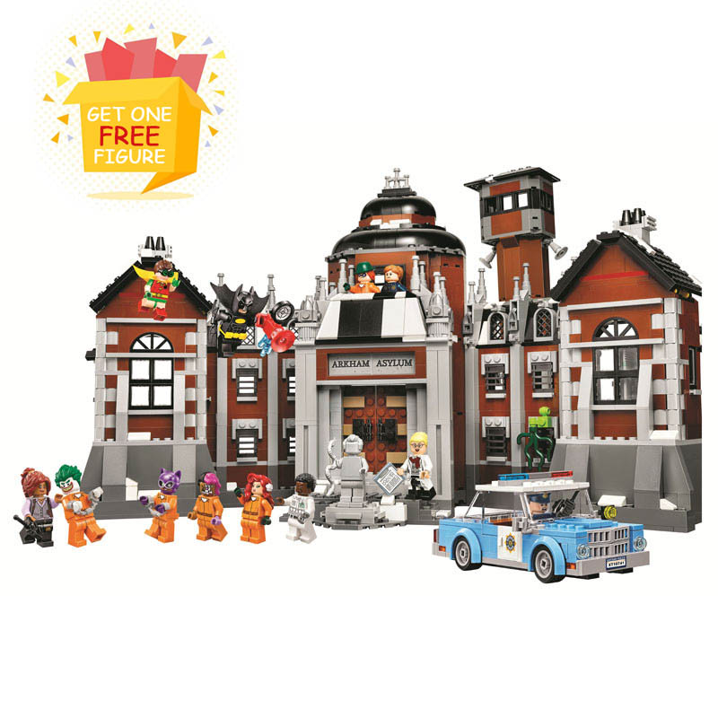 Bela Compatible <font><b>Legoe</b></font> <font><b>Batman</b></font> <font><b>Movies</b></font> DC Comics Arkham Asylum 10741 Super Heroes Building Blocks Bricks Toys Marvel City Gifts
