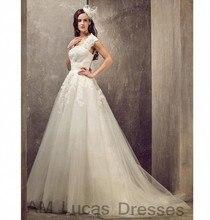 Luxury A Line Wedding Dresses 2017 Bridal Dresses Party Gowns Fairytale Princess Robe De Mariage Lace Up Plus Size