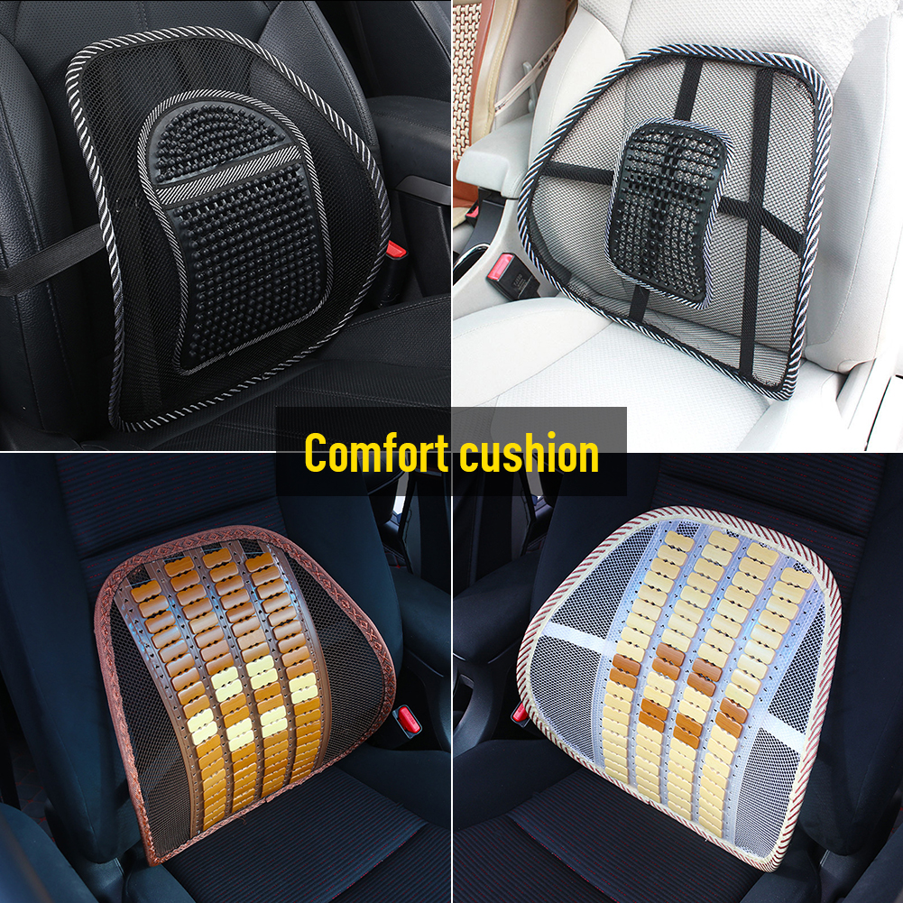 Backrest-Cushion Massage Seat Car-Accessories Lumbar Car-Waist-Back Auto Breathable Summer