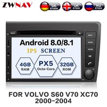 ZWNAV Android 8.0 Car DVD Player For VOLVO S60 V70 XC70 2000-2004 Auto GPS Navigation Radio Head Unit BIG Screen(China)