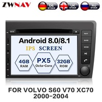 ZWNAV Android 8.0 Car DVD Player For VOLVO S60 V70 XC70 2000 2004 Auto GPS Navigation Radio Head Unit BIG Screen