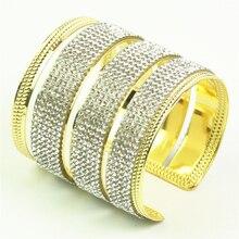 rhinestone bracelet carter bangle cuff bracelets & bangles for women armband goud rhinestone detail cuff bracelet