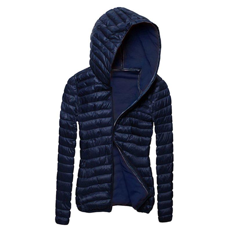 New Winter coat Zipper Jacket Women Slim Thin Padded hooded collar ...