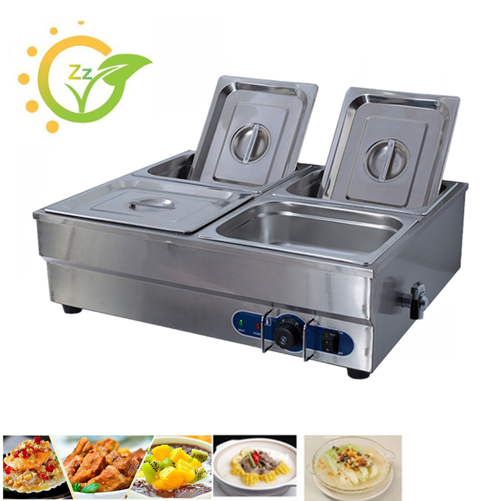Commercial home eletric bain marie soup food warmer wet heat catering tray stainless steel countertop kitchen tools