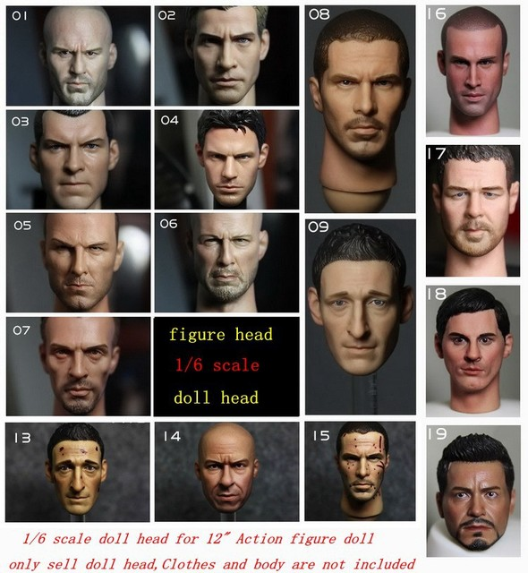 """1/6 scale Doll head for 12"""" Action figure doll headsculpt male star Head carving,only head.Clothes and body are not included"""