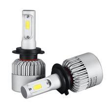 2 шт cob h7 160w 16000lm светодиодный фар комплект hi/короче