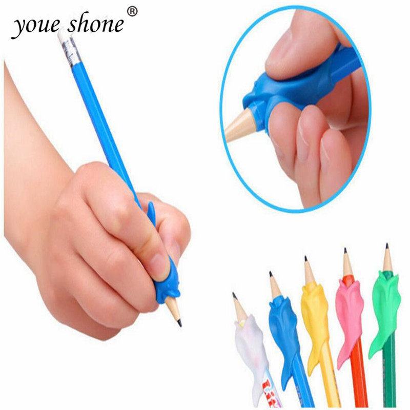 10PCS/LOTS Pen Grips Primary Pencil Wobi Pencil Holder Corrector Writing Grip Posture Tool Student& Office Writing Supplies
