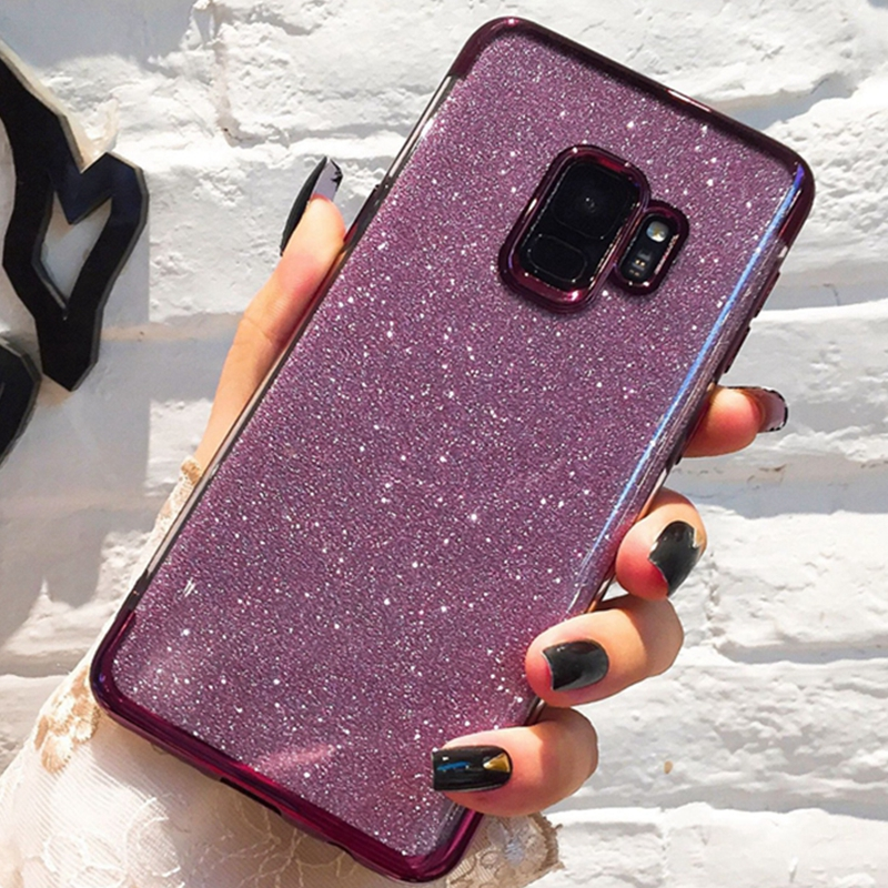 OLLIVAN Case For Samsung Galaxy Note 9 8 S9 S8 Plus S7 Edge Glitter Bling Soft TPU Phone Cases For Samsung J5 J7 J8 2018 Cover