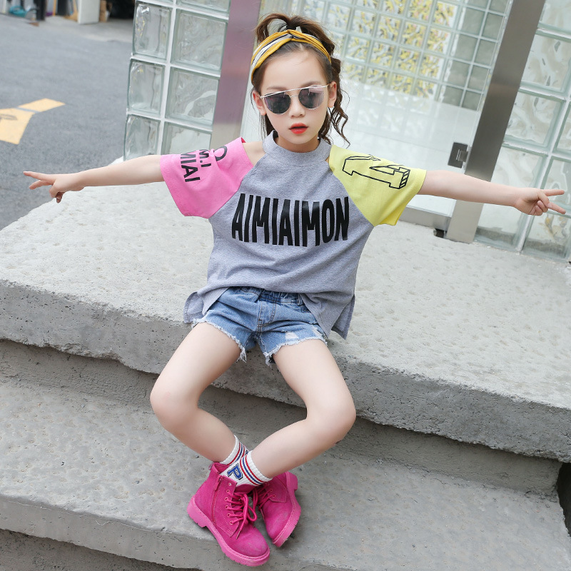 Jackets Short-Sleeved Children's-Wear Baby Shoulder-Cotton Kids Summer New Mid Relaxed
