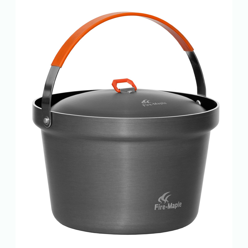 Fire-maple Outdoor Cookware Campfire Pot Camping Rice Cooker for 4-6 Person 3L FMC-1404001 homeleader 7 in 1 multi use pressure cooker stainless instant pressure led pot digital electric multicooker slow rice soup fogao