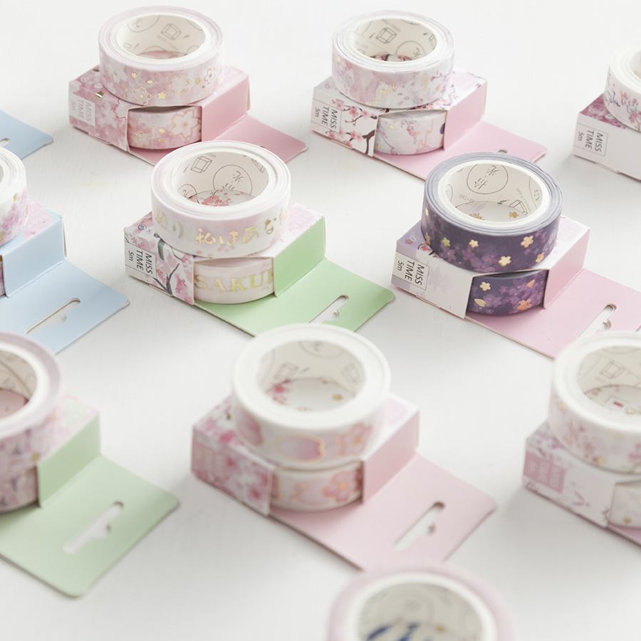 Cute Meet Sakura Paper Washi Tape Adhesive Tape Diy Scrapbooking Sticker Label Masking Tape